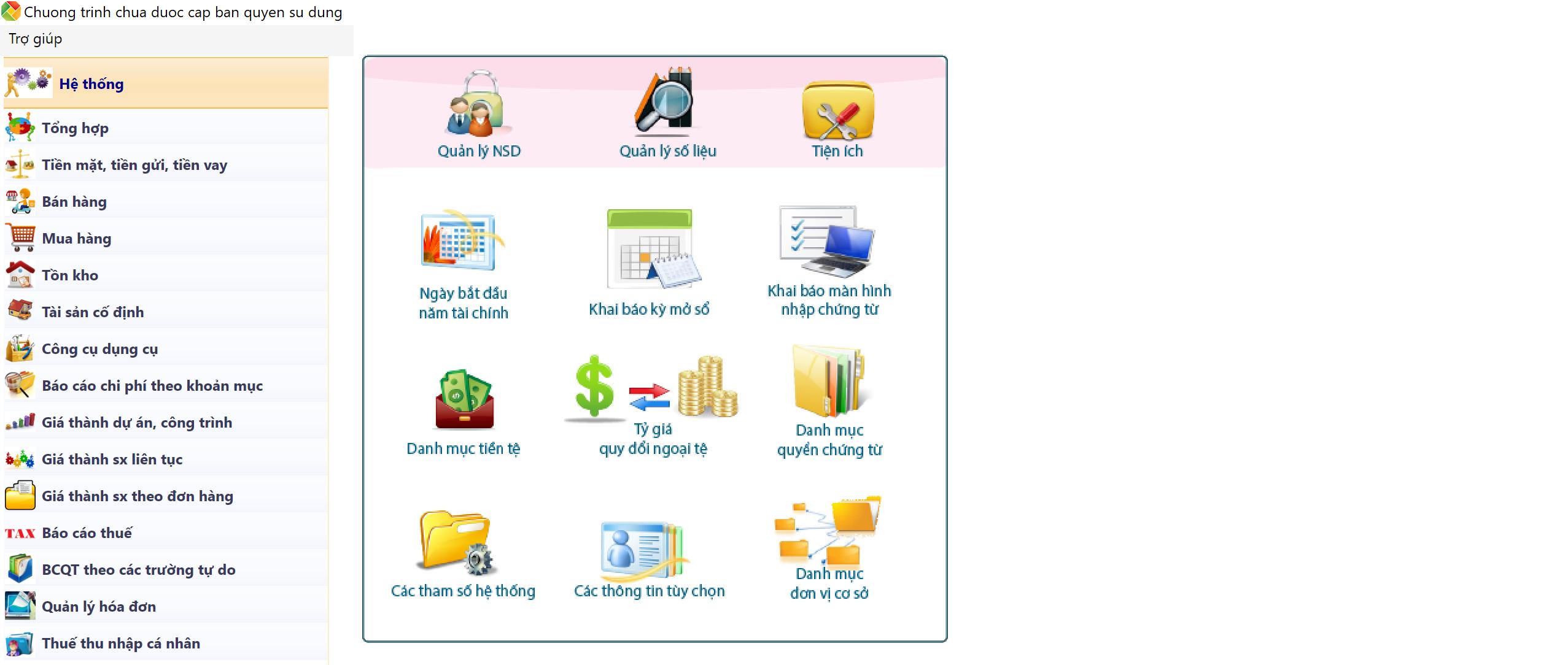 phần mềm kế toán việt nam - Sthink Accounting