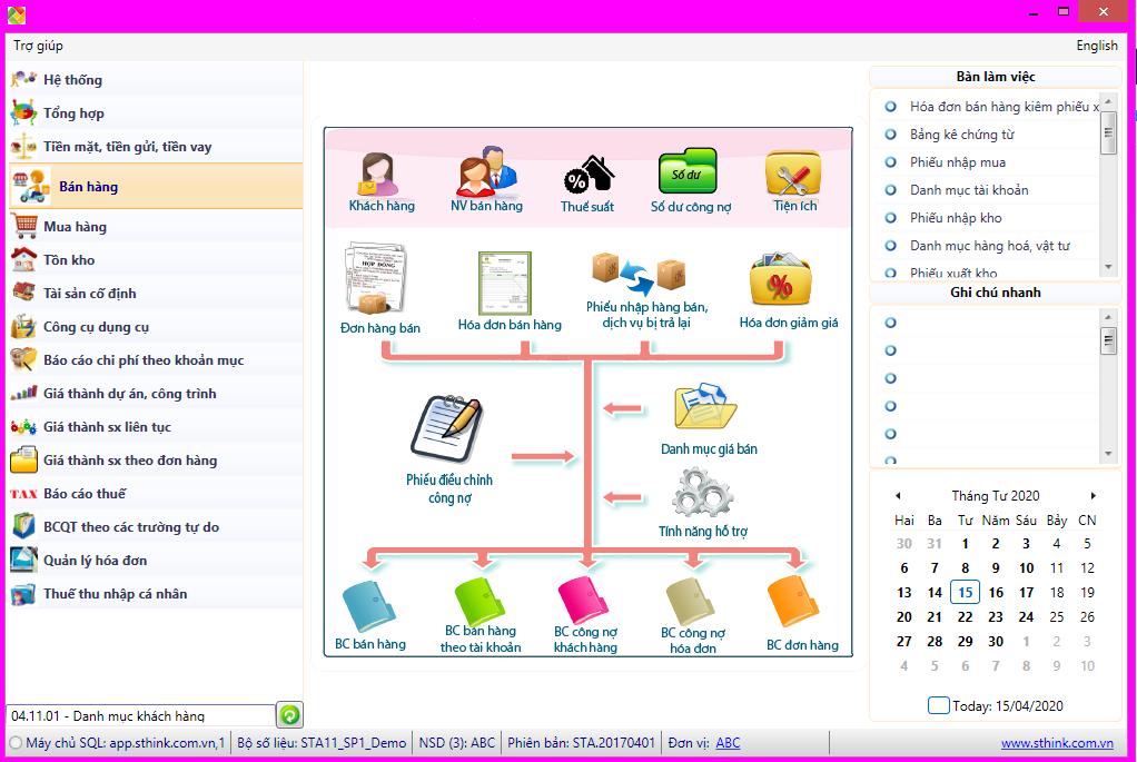 Phần mềm kế toán hiệu quả - SThink