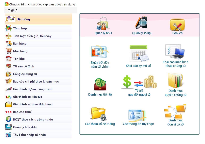 2 1 Phần mềm kế toán miễn phí dùng thử SThink Accounting